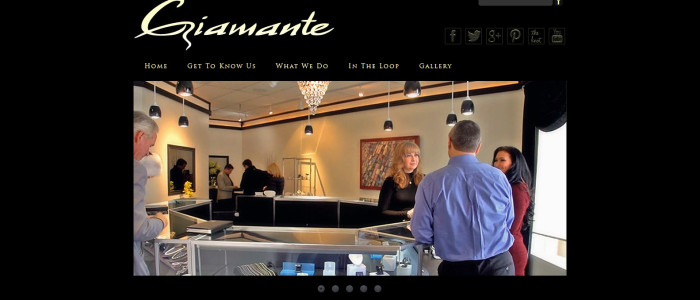 Website redesign and customizing for Giamante Jeweler of Anchorage, AK