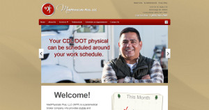 Website design for MedPhysicals Plus, LLC of Anchorage, AK
