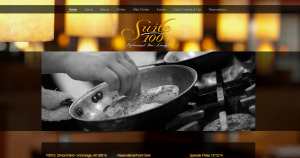Website designed for Suite 100 Restaurant Bar & Lounge in Anchorage, Alaska