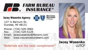 Jacey Wasenko of Farm Bureau Insurance