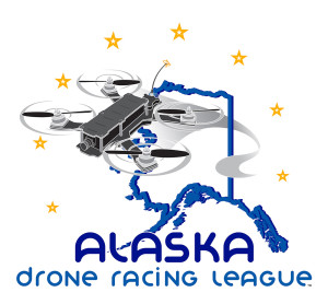Alaska Drone Racing League logo designed by AKSYS with Kolina Brunschkova and Justin Matley