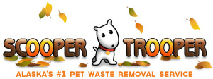 Scooper Trooper Pet Waste Removal Service fall logo