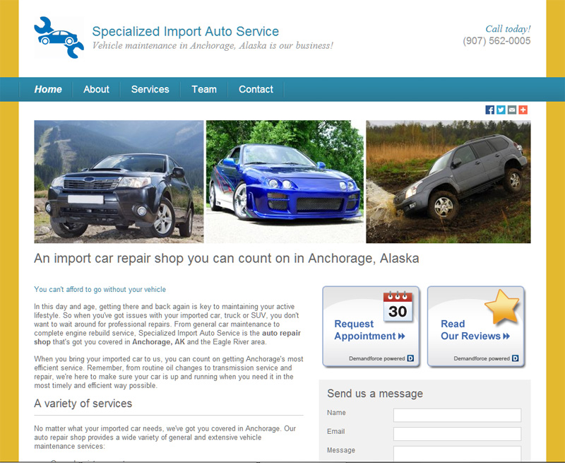 Specialized Import Auto Service Of Anchorage For Toyota Subaru Honda Mercedes And Imported