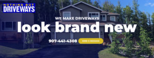 Driveway sealing, coating and repair in Anchorage, Eagle River, Wasilla and Palmer, Alaska